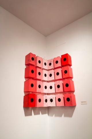 4_Fernandez_Ivan_2013_PresenciasBirdHouses_InkAndAcrylicOnWoodSculpture