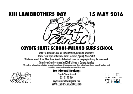 Coyote Skate School - Milano Surf School for Lambrothers 2016